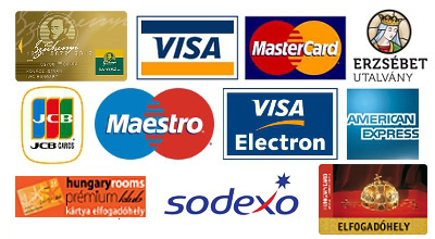 We accept the following methods of payment